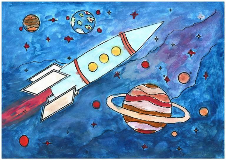 Картинки на тему космонавтики 1 класс