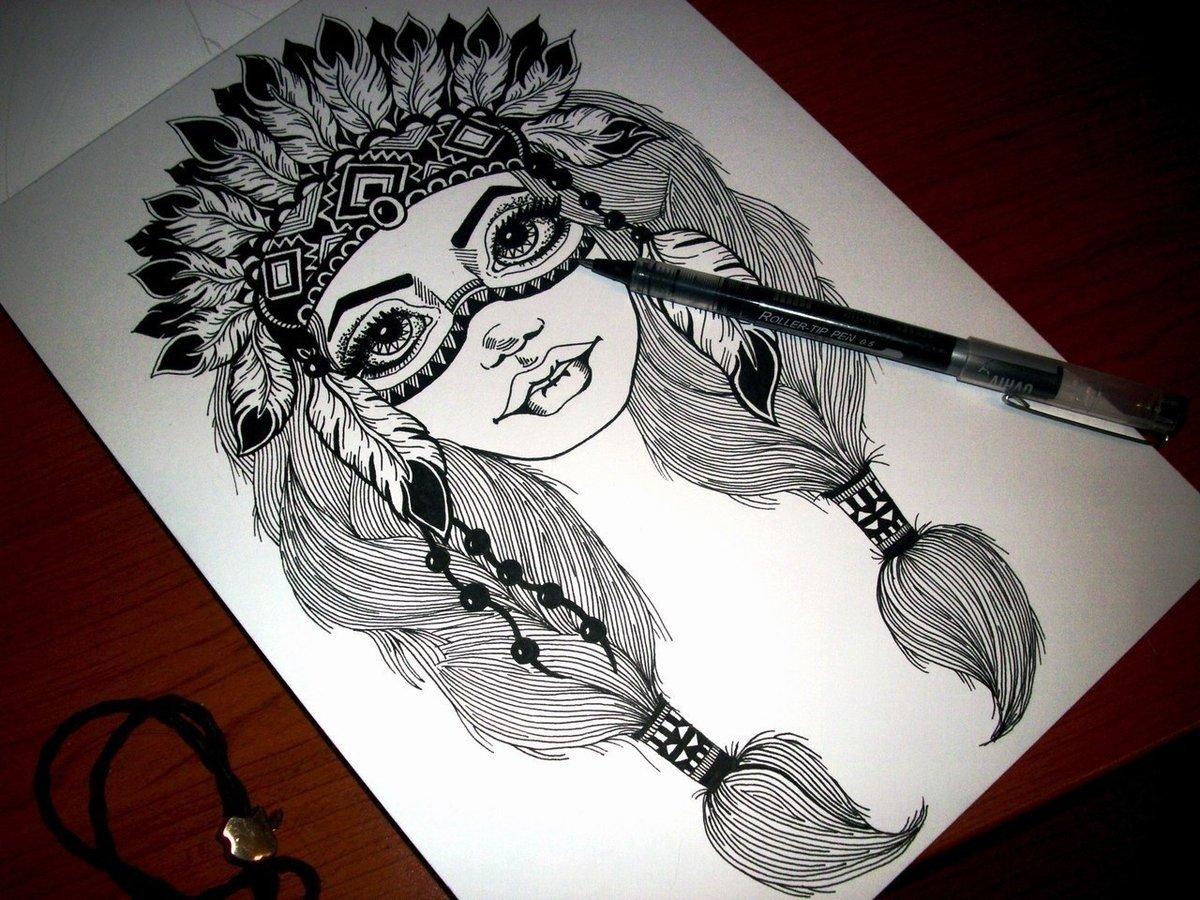 какой-то крутой татушки рисунок черной ручкой закрыт для