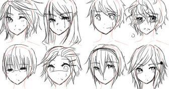 Картинки аниме волосы для срисовки (25 фото)