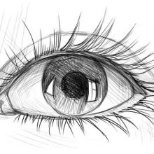 Картинки для срисовки глаза (22 фото)
