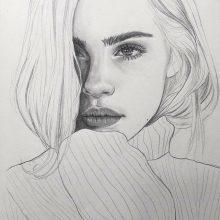 Картинки для срисовки девушки в стиле арт (34 фото)