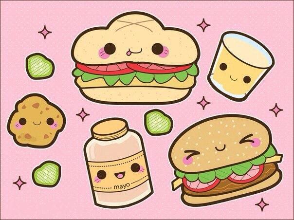 прикольные рисунки еды для личного дневника платье стан облегает