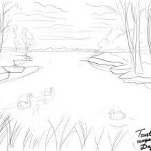 Рисунки природы карандашом для срисовки (58 фото)