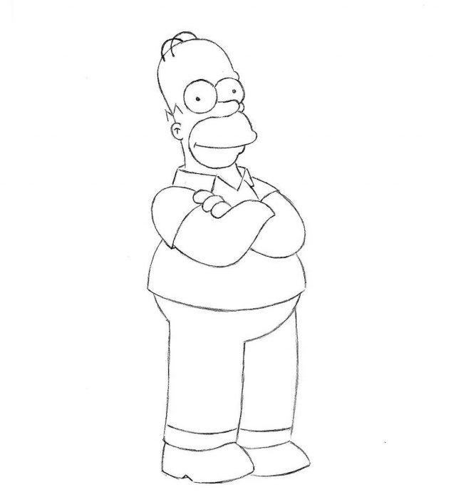 крутые рисунки симпсонов карандашом минуют горести отныне