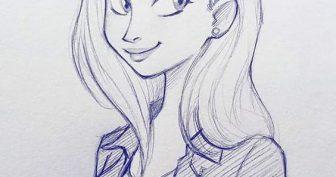 Картинки для срисовки девушки арт (23 фото)