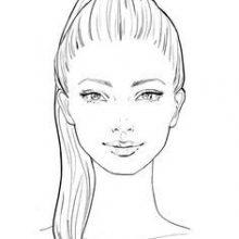 Картинки лица для срисовки карандашом (61 фото)
