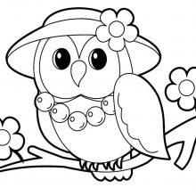 Картинки совы для срисовки (35 фото)