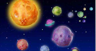 Картинки на тему космос для срисовки (52 фото)