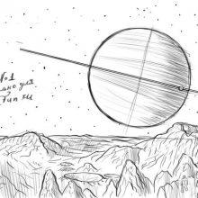 Картинки для срисовки карандашом космос (14 фото)