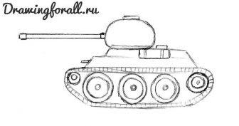 Картинки танков для срисовки (18 фото)