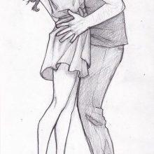 Картинки для срисовки аниме поцелуй (26 фото)