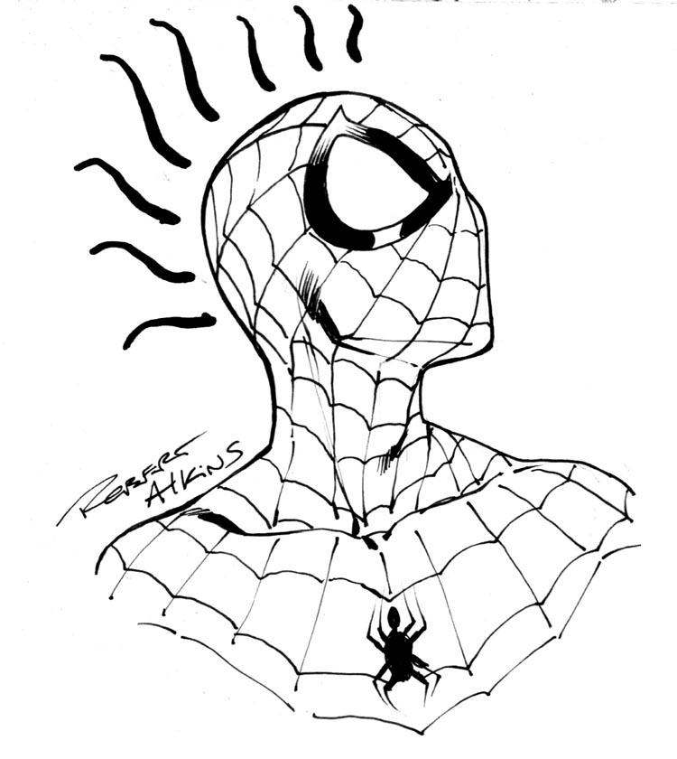 самом легкие рисунки человека паука карандашом катаю мотах