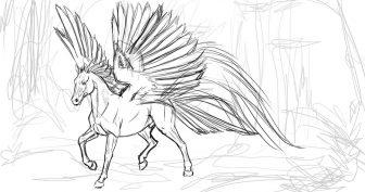 Картинки лошадей для срисовки (32 фото)