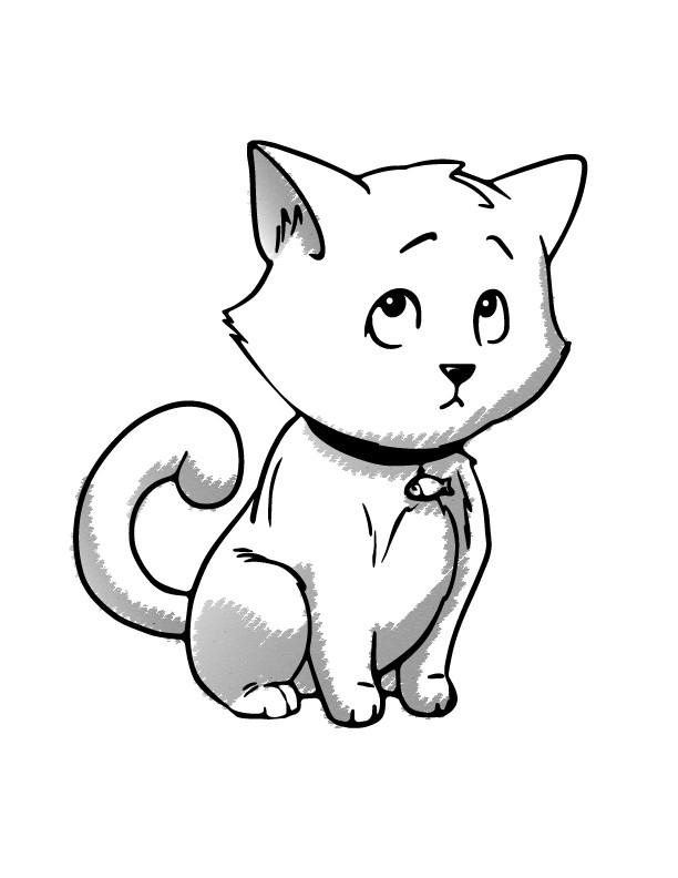 маленькие картинки кошки рисунки статье