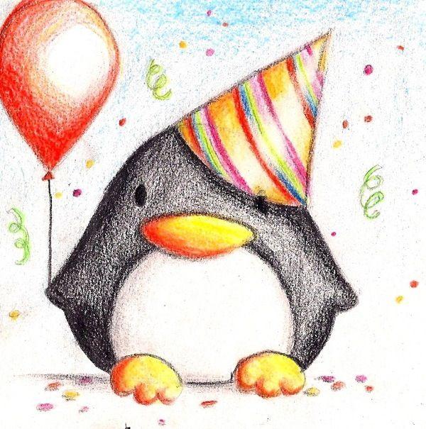 картинки на день рождения подруги срисовывать