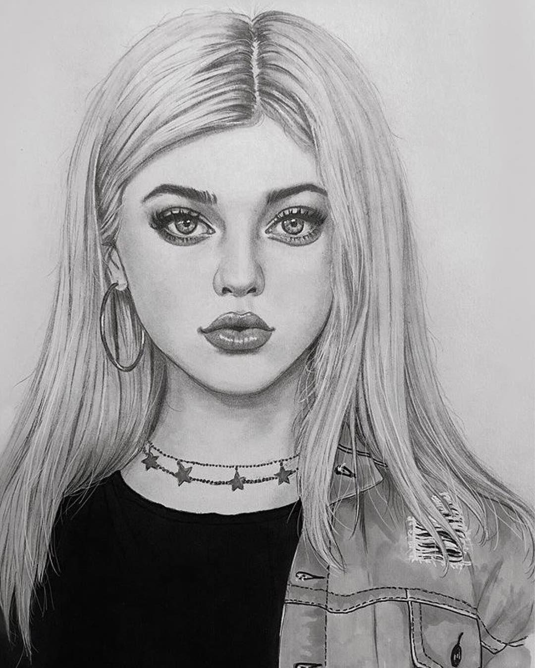Картинки срисовать карандашом девочек
