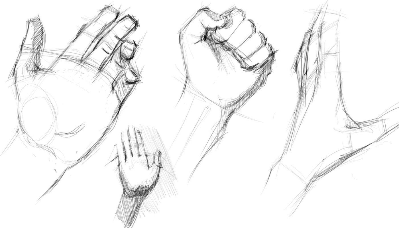 Картинки рук нарисованные