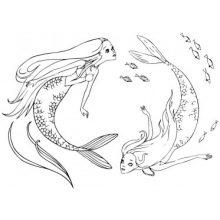 Картинки русалок для срисовки (18 фото)