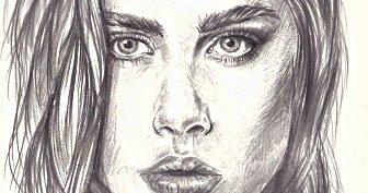 Портрет девушки карандашом для срисовки (22 фото)