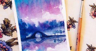 Картинки для срисовки в скетчбук акварелью (25 фото)