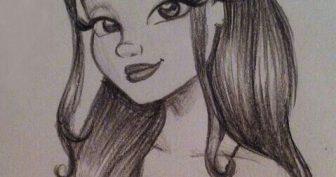 Рисунки для срисовки Ариана Гранде (15 фото)