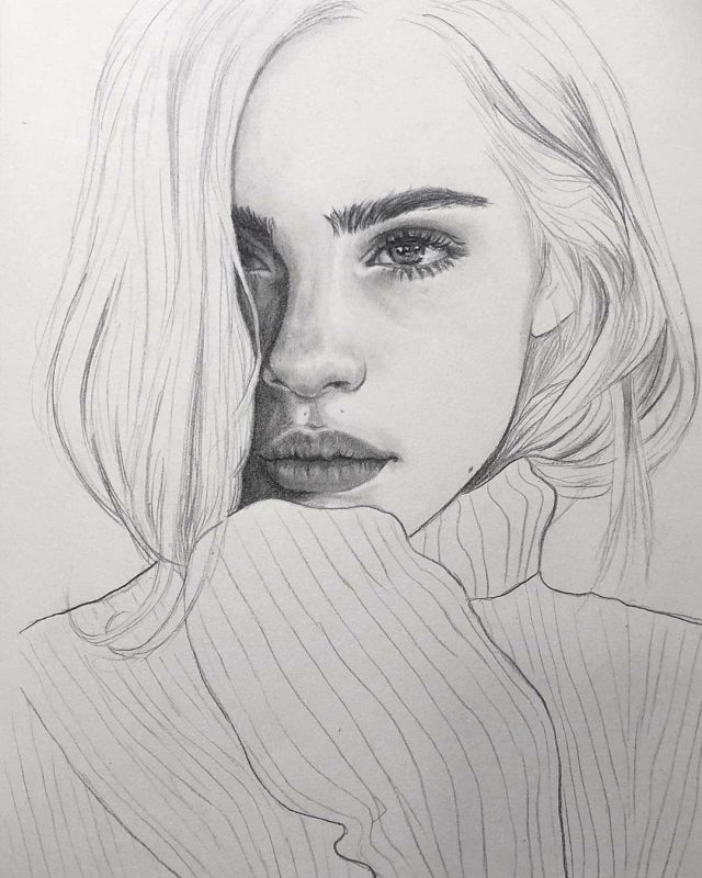 рисунки девушек картинки