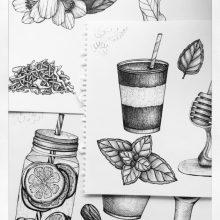 Рисунки для срисовки в скетчбук черной ручкой (23 фото)