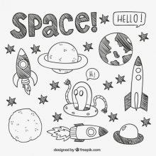 Рисунки для срисовки планеты (15 фото)