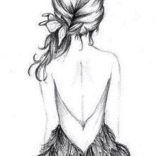 Картинки для срисовки девушек в платьях (24 фото)