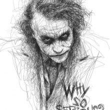 Картинки Джокера для срисовки (15 фото)