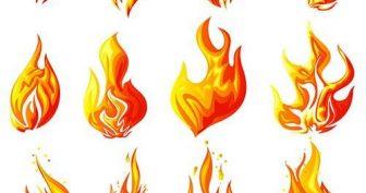 Картинки огня для срисовки (16 фото)