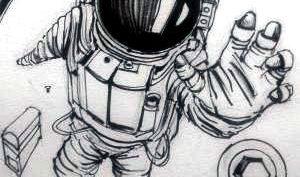 Рисунки для срисовки космонавтов (15 фото)