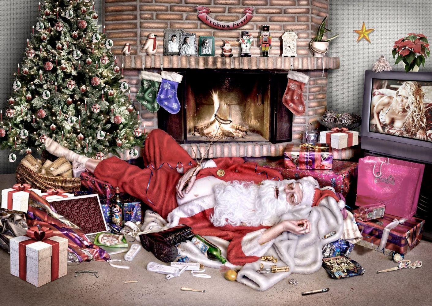 Смешные картинки о переедании на новогодние праздники