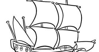 Картинки кораблей для срисовки карандашом (28 фото)