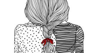 Рисунки девочек для срисовки карандашом легкие (33 фото)