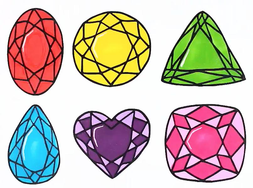 Картинки алмазы для срисовки