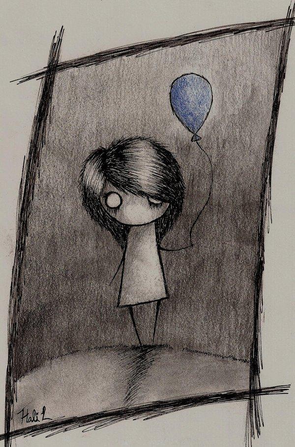 грустные картинки со смыслом рисунок