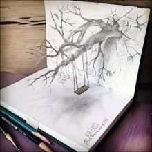 Рисунки карандашом для срисовки 3d (17 фото)