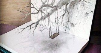 Рисунки карандашом для срисовки 3d (47 фото)