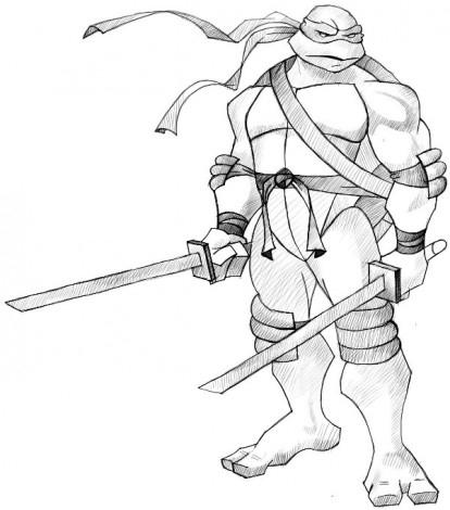 Картинки черепашек ниндзя для срисовки