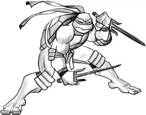 Рисунки для срисовки Черепашки Ниндзя (15 фото ...