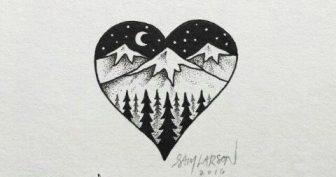 Картинки гелевой ручкой для срисовки (31 фото)