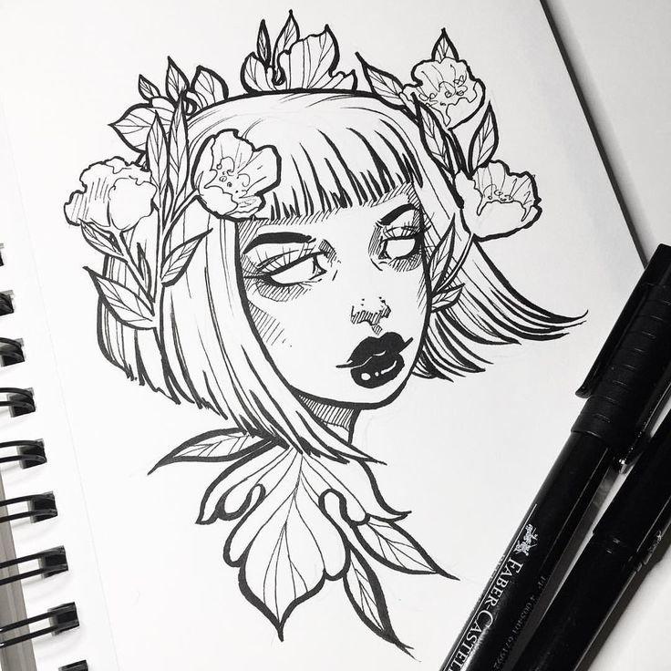Прикольные картинки для срисовки черной ручкой