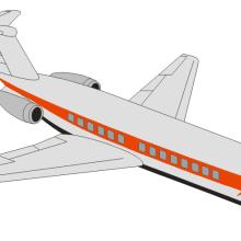 Рисунки для срисовки самолеты (21 фото)