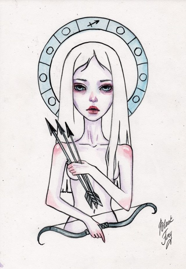 Картинки для срисовки девочки арт знаки зодиака