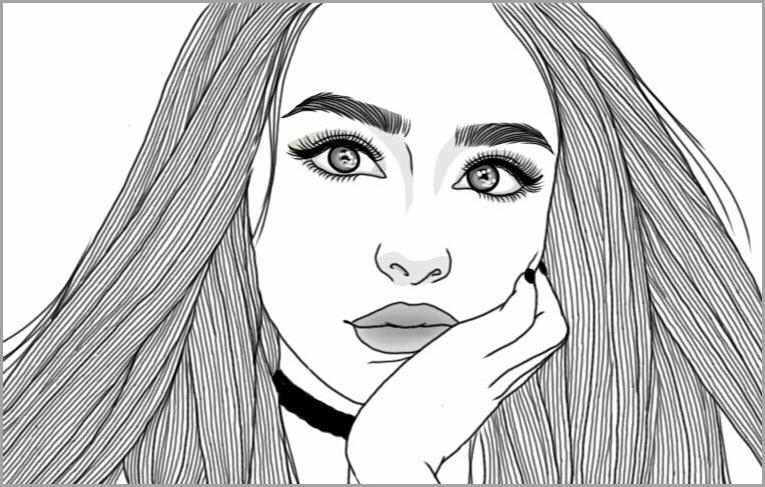 25-летним юбилеем, картинки с изображением девушек для срисовки