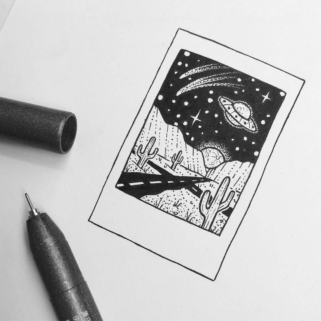 Тумблер рисунки маленькие черной ручкой