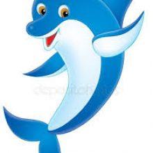 Картинки дельфинов для срисовки (21 фото)