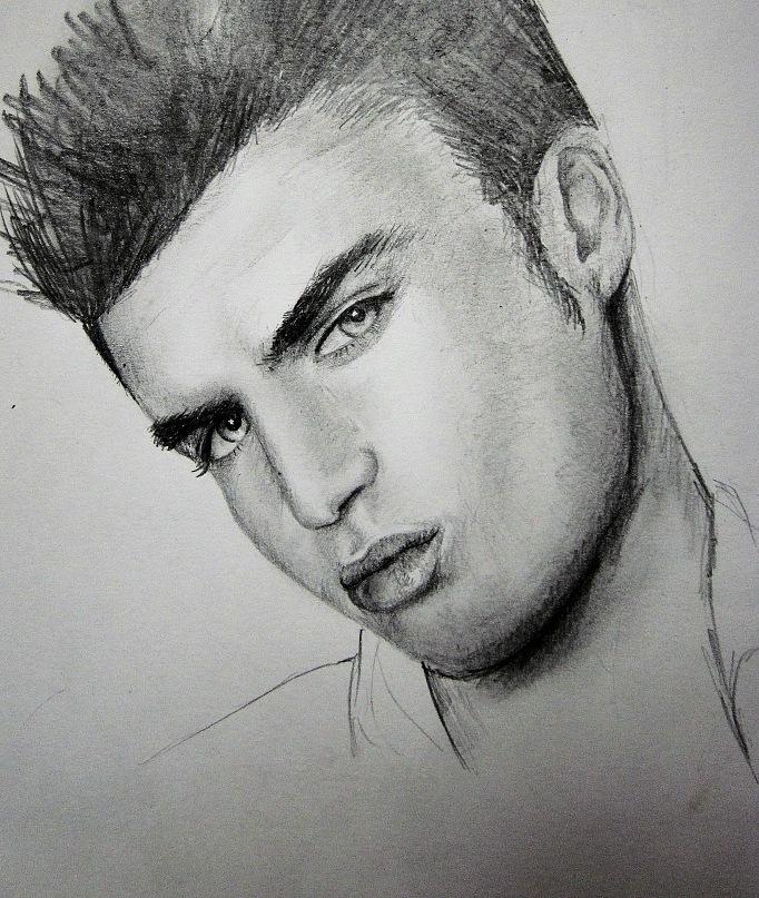 Картинка карандашом мужчины