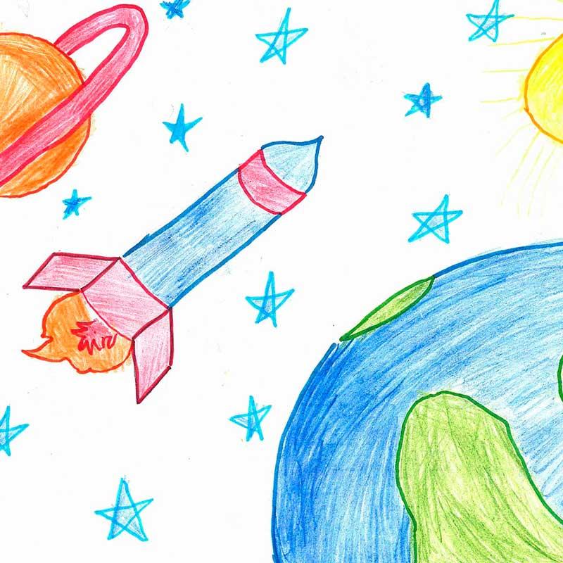 срокам рисование космос картинки статье